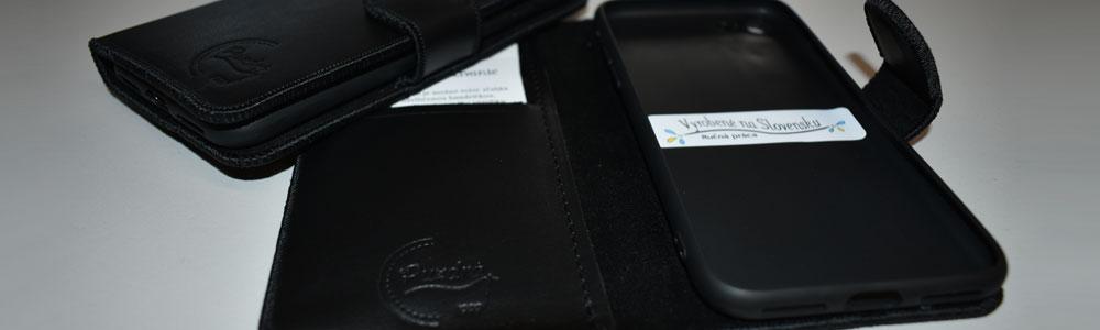 Kožené knižkové puzdrá vyrobené na Slovensku