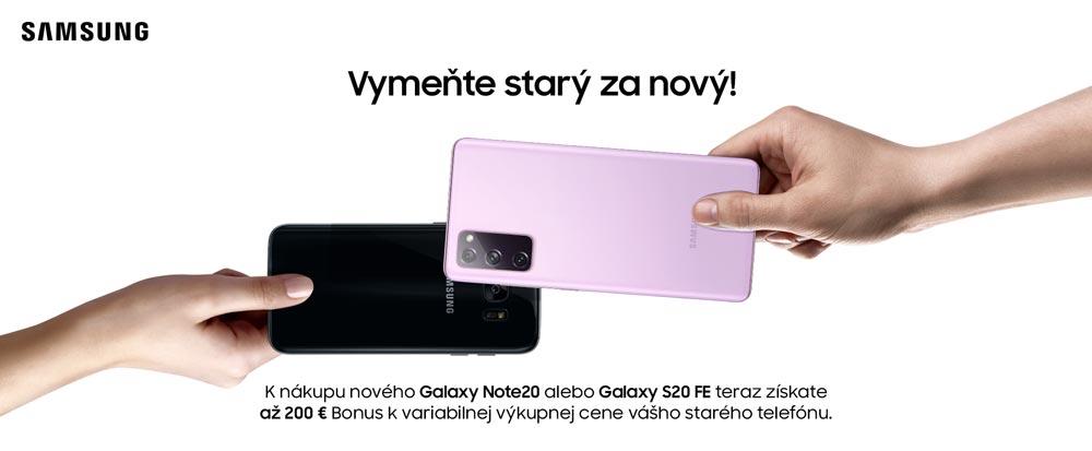 Samsung Vymeňte starý za nový